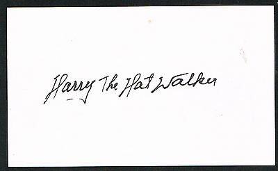 Harry Walker (d. 1999) signed autograph 3x5 index card Baseball Player H6244