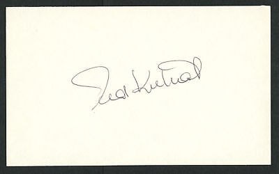 Ted Kubiak signed autograph auto 3x5 index card Baseball Player 8085-00