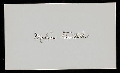 Melvin Deutsch (d. 2001) signed autograph Baseball 3x5 Index Card 2023-07