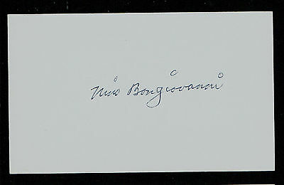 Nino Bongiovanni (d. 2009) signed autograph Baseball 3x5 Index Card 1044-18