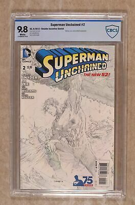 Superman Unchained (DC) #2B 2013 Lee Sketch 1:300 Variant CBCS 9.8