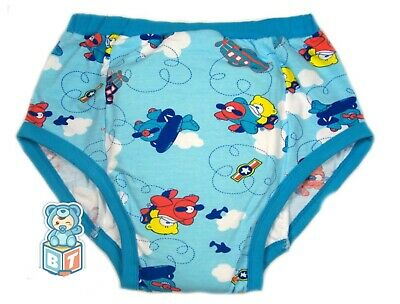 adult Teddy's & Airplanes baby blue color  training diaper incontinence pants