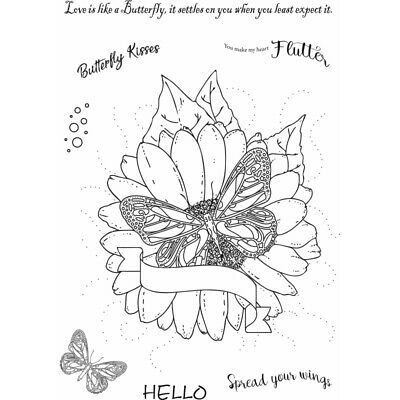 New Sweet Dixie Sharon Callis Typography  Clear Stamps Flutterby