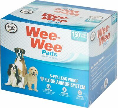 NEW Four Paws Wee Wee Pet Training and Puppy Pads 150 Count 22 x 23 Pad