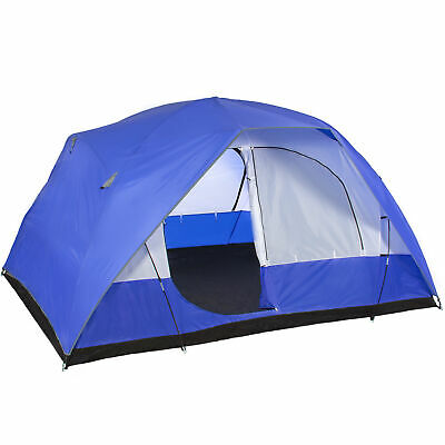 BCP 5-Person Dome Camping Tent - Blue