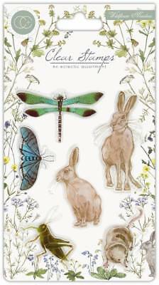 New Craft Consortium Clear Stamps Wildflower Meadow