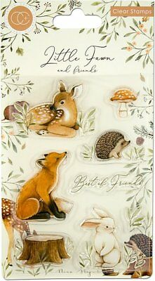 New Craft Consortium Clear Stamps Little Fawn and Friends Best Friends