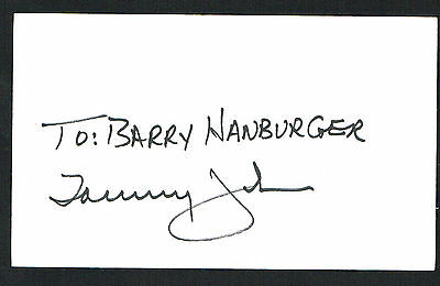 Tommy John signed autograph auto 3x5 index card Baseball Player H3796