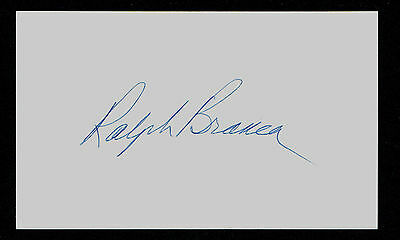 Ralph Branca signed autograph auto 3x5 index card Baseball Player H1664