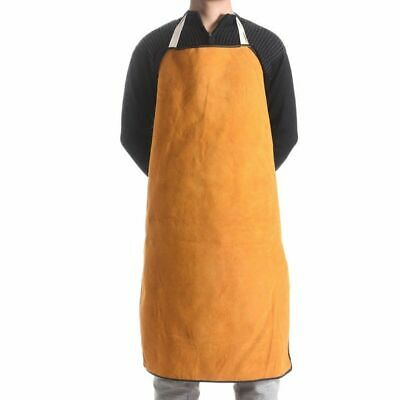 Leather Welding Apron Flame Retardant Heavy Duty Welder Protective Safety Work