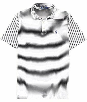 Ralph Lauren Mens Striped Rugby Polo Shirt whitefrench M