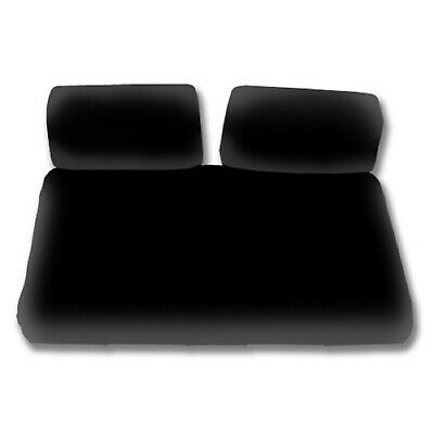 Madjax Wave Black Marine Grade Seat Covers | Yamaha G16 - G22 Golf Cart