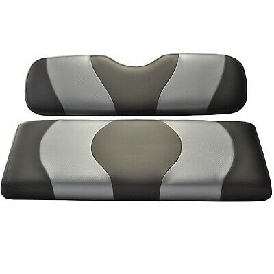 Madjax Wave Black/Gray Two-Tone Seat Covers | EZGO Golf Cart 1994-Up