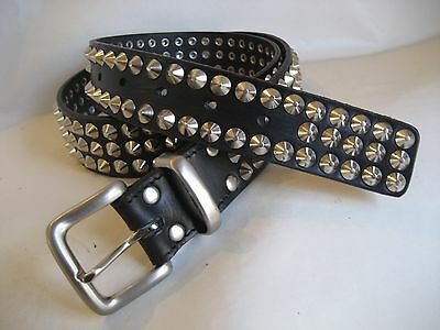 BNWT Black Genuine Leather Studded Mens Belt RRP $79.95