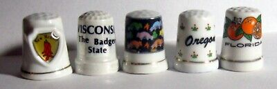 US STATES ~ Lot of 15 Souvenir Thimbles