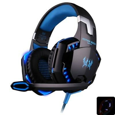 G2000 Cuffie Da Gioco Gaming Headset Bass Stereo Led Microfono Led Ps4 Pc Xbox