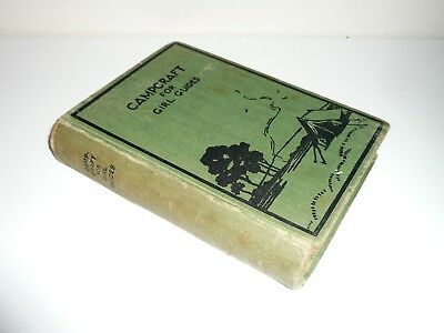 Campcraft For Girl Guides Dated 1939 Published By The Girl Guides Association