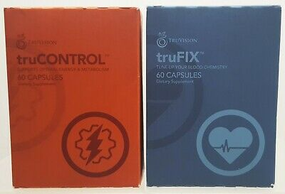 TruVision truFix & truControl 30 Day 1 Month Supply 120 Capsules Weight Loss