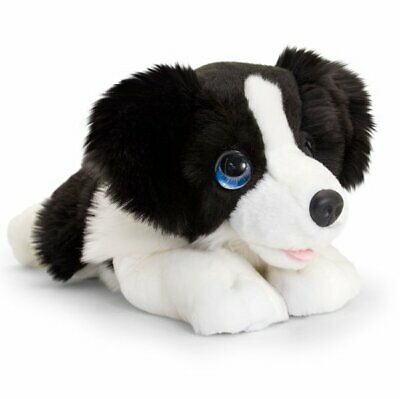 KEEL TOYS BORDER COLLIE DOG 32cm Soft Toy SIGNATURE PUPPY