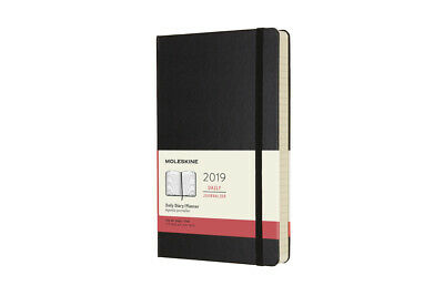 2019 Moleskine Notebook Black Large Daily 12-month Diary Hard