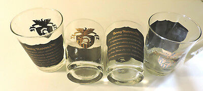 Vintage WEST POINT  Benny Havens, Oh! High Ball Glasses Set of 4 Black Gold