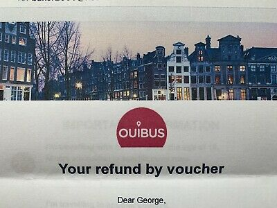 Ouibus travel Vouchers. Value £223. Use Travel to most Places Europe Exp 30/4/19