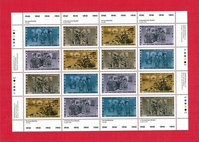 1991 Timbres Canada Stamps  Sheet #  # 1345 - 1348  Mint Ww Ii - 1941
