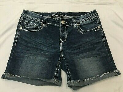 ee553ff3f3e19 MAURICES   Womens Stretch Blue Jean   Denim Shorts   Junior Size 13 ...