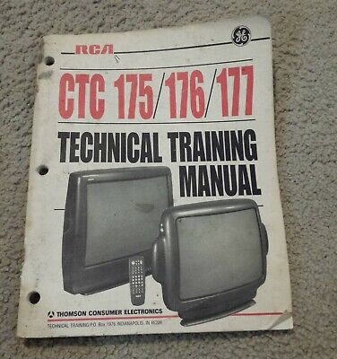 RCA CTC 175/176/177 Technical Training Manual (1993)