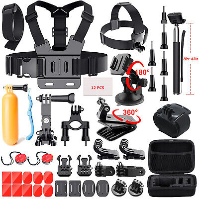 GoPro Hero 7/6/5/4/3/2/1 Essential Accessories Kit Hero Session Camera Accessory
