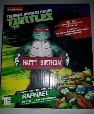 Teenage MUTANT NINJA TURTLES AIRBLOWN INFLATABLE 3.T FEET NICKELODEON Raphael