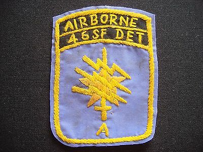 """War Hand Made Patch US 1st SFGrp - 46th Special Forces Company Detachment """"A"""""""