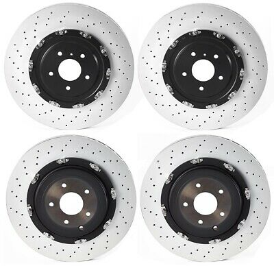 Brembo Front Floating PVT X-Drilled Disc Brake Rotor 380mm For For Nissan GT-R