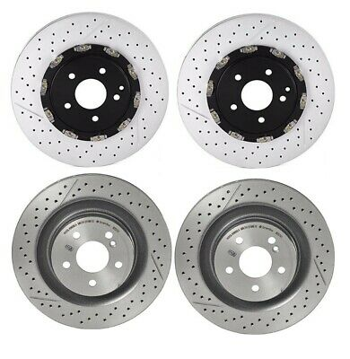 For MB C209 R171 Front Left or Right Disc Brake Rotor Drilled Slotted PVT Brembo
