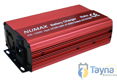 Numax Commercial Batterie Charger 12V 20A