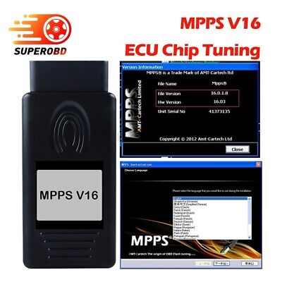 MPPS V16 ECU Flasher Chip Tuning Remapping Interface For EDC15 EDC16 EDC17  MED9
