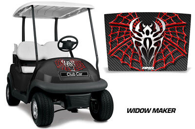 Club Car Precedent i2 Golf Cart Hood Graphic Kit Wrap Decal 2008-2013 WIDOW RED