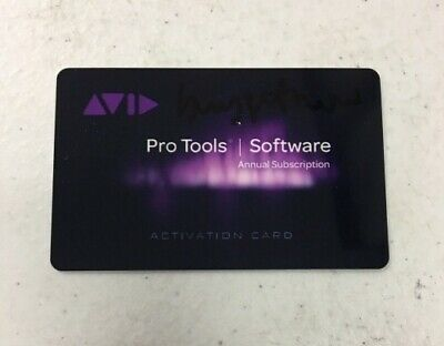 Avid Pro Tools 12 2019 12.8.3 Annual Subscription Software Activation Card+BONUS