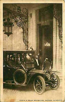 Postcard Early Limousine for Bourgemaster Max, Brussels, Belgium Nov. 17, 1918