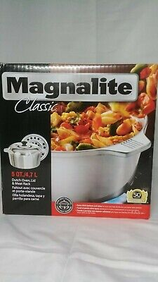 """1040828 MAGNALITE CLASSIC 15/"""" ROASTER WITH LID /& MEAT RACK"""