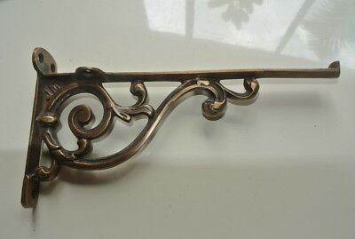 """small 9"""" Bracket solid solid brass antique look 22 cm heavy old style vintage B"""
