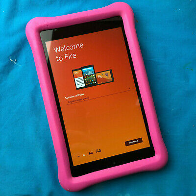 """Amazon Kindle Fire 8 Blue Kids Proof Children Edition 8"""" HD Tablet 32 GB"""