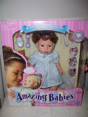 Playmates 2000 Interactive Doll Amazing Babies Original Box Accessories Mint
