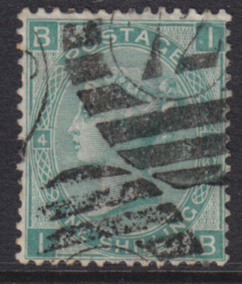 1867/80 Queen Victoria 1/- Green Sg117 Plate 4 Used