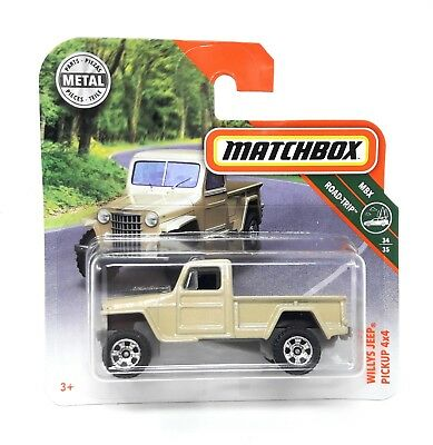 Matchbox MBX Superfast 2018 No 123 Willys Jeep Pickup 4x4 short blister card