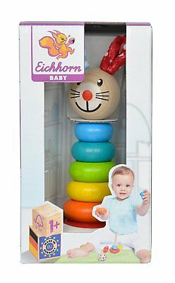 Eichhorn Baby Wooden Toy Bunny Stacking Animal Game colored Made in Germany