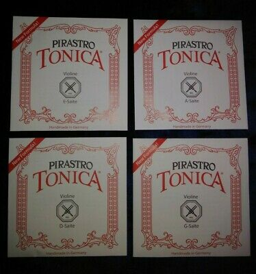 Pirastro Violin Strings Tonica Set Medium E Loop A D G 4/4