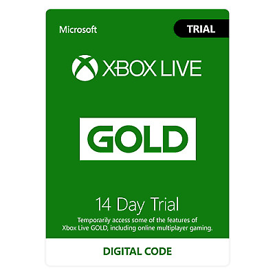 Xbox Live 14 Day (2 Weeks) Gold Membership Trial Code 2 Weeks
