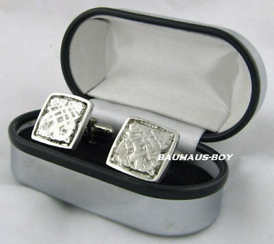 Solid Pewter Celtic Sea Dragon Design Cufflinks  Made In Scotland Kiltwear Bnib