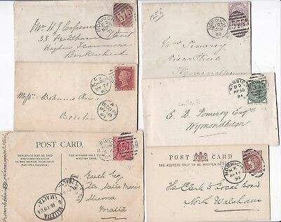 # 1866/1904 6 Norwich Duplexes Covers & Cards Incl Prevention Cruelty To Animals